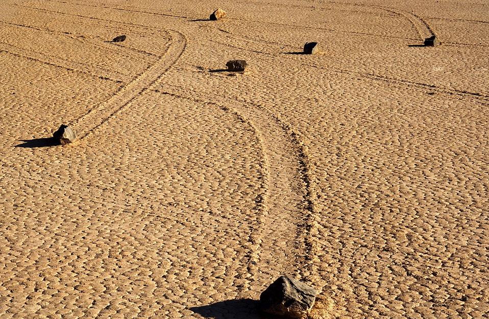 sliding stone in death valley