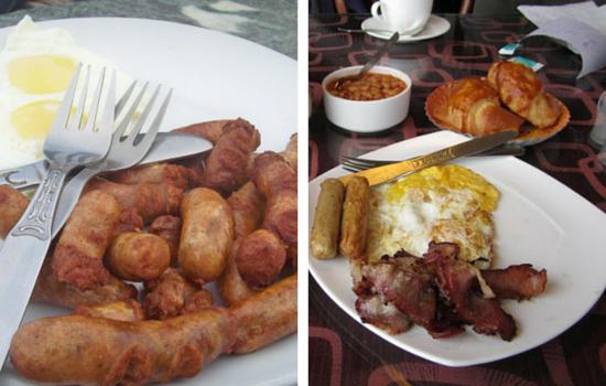 Breakfast in Keventers and Glenarys Darjeeling