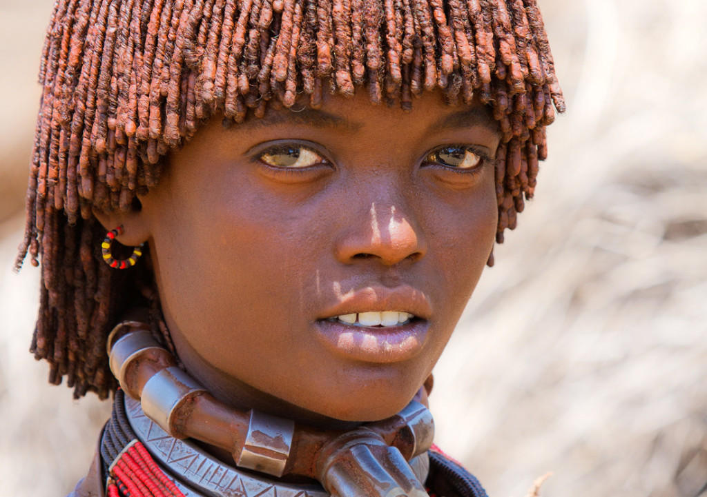 Hamer tribe girl from Ethiopia