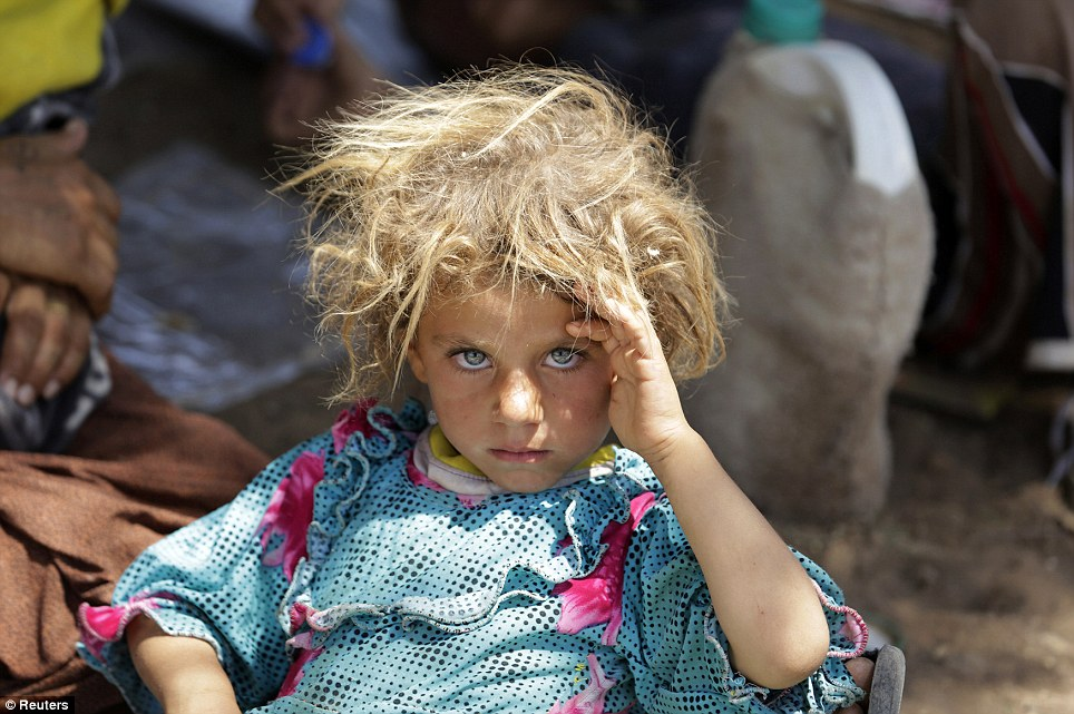 girl from the minority Yazidi sect