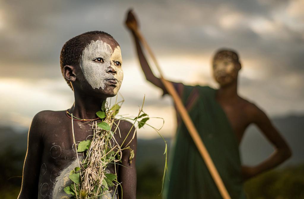 nomadic Suri tribe boy