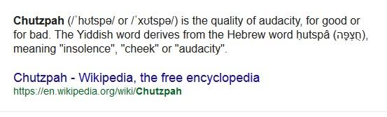 chutzpah meaning
