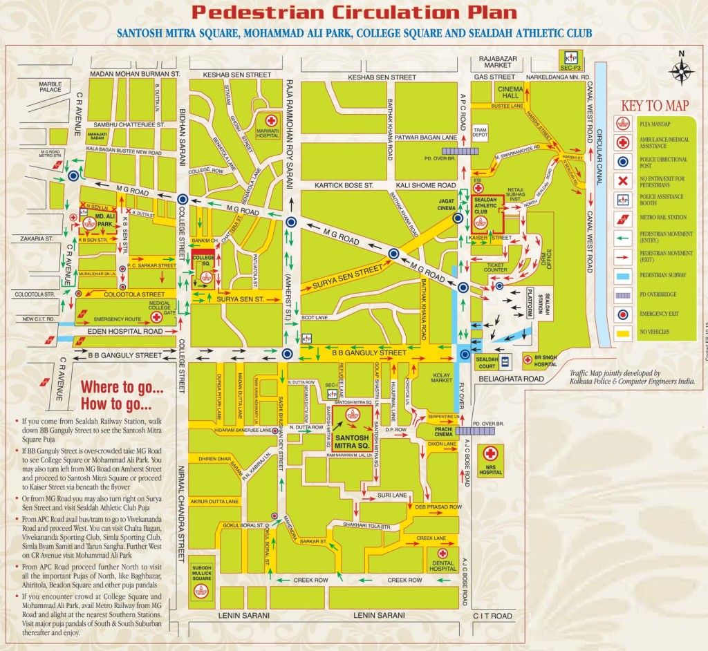 Pedestrian Circulation Durga puja plan