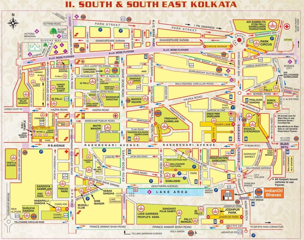 durga puja map south kolkata