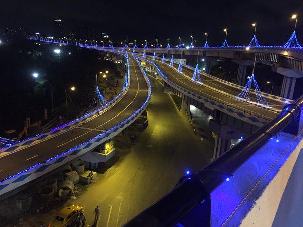 parama flyover night view