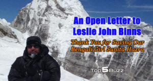 Leslie John Binns open letter everest