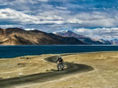 Bicycle adventure in Pangong