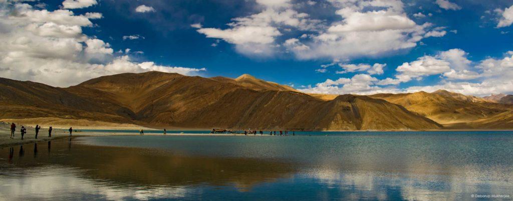 reflection at pangong lake