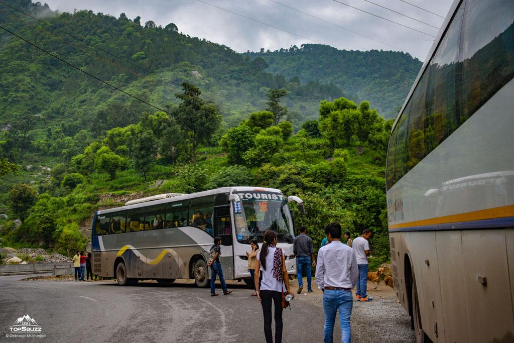 Delhi to Manali HRTC Volvo bus