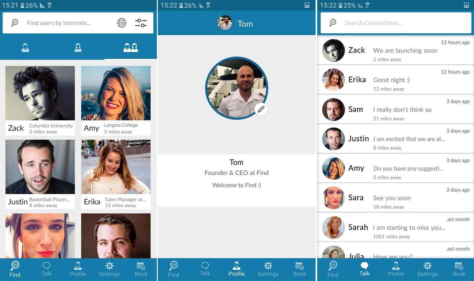 Find Travelers app screenshot