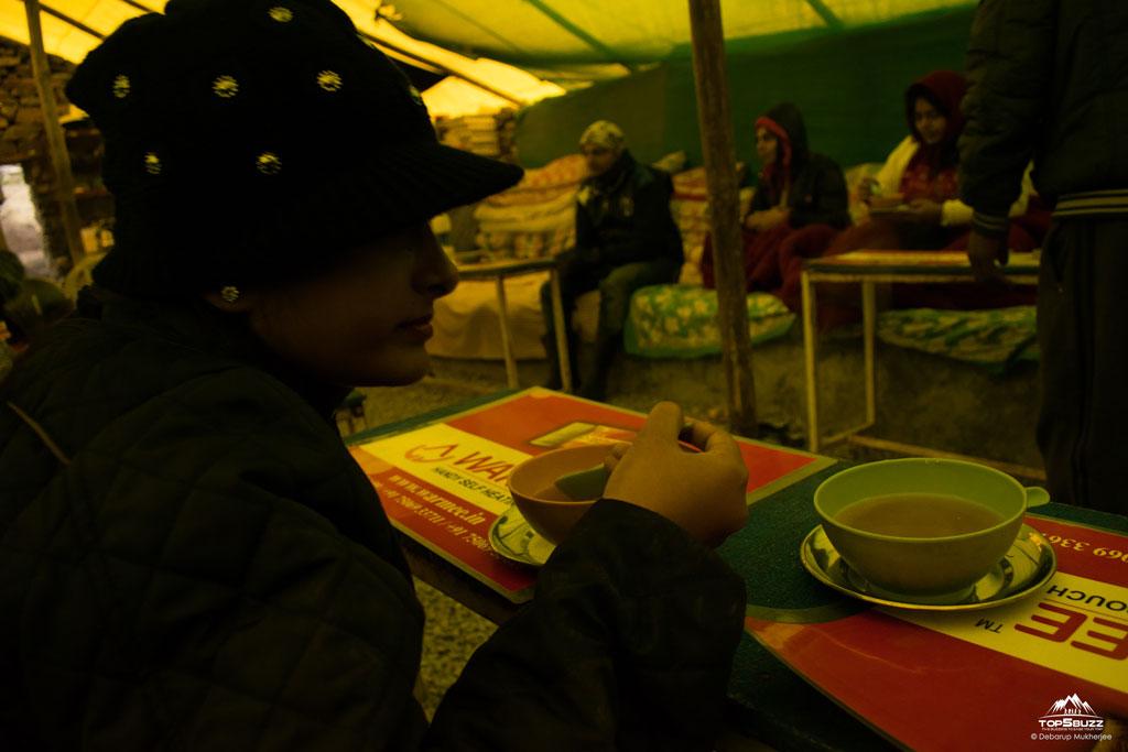 garlic soup at keylong