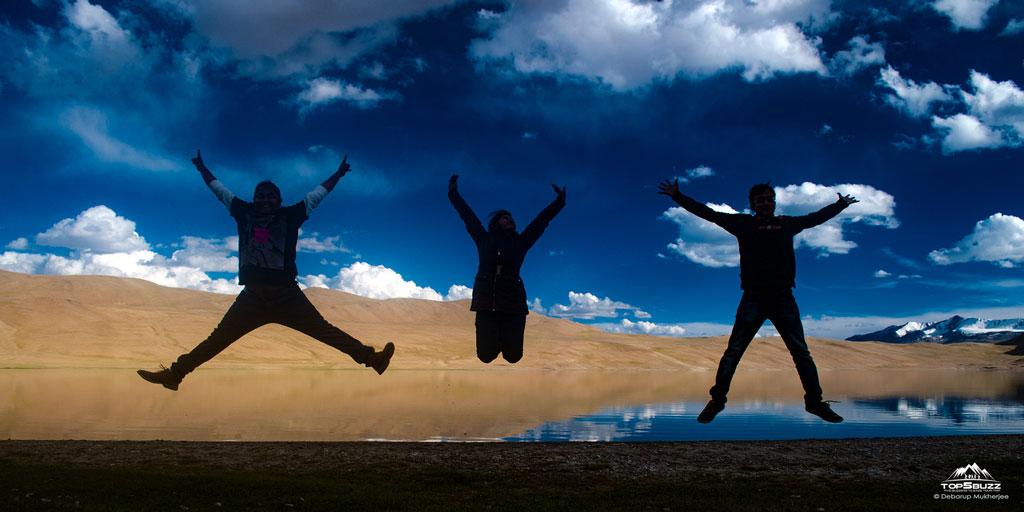 jump in tso kiagar lake