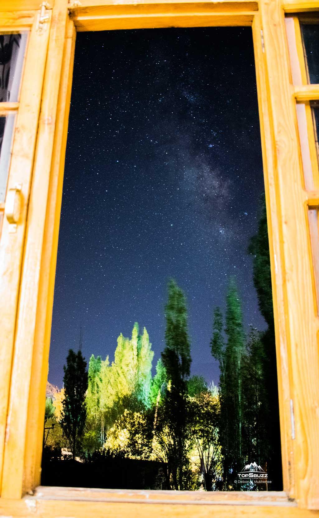 Milky Way from leh hotel