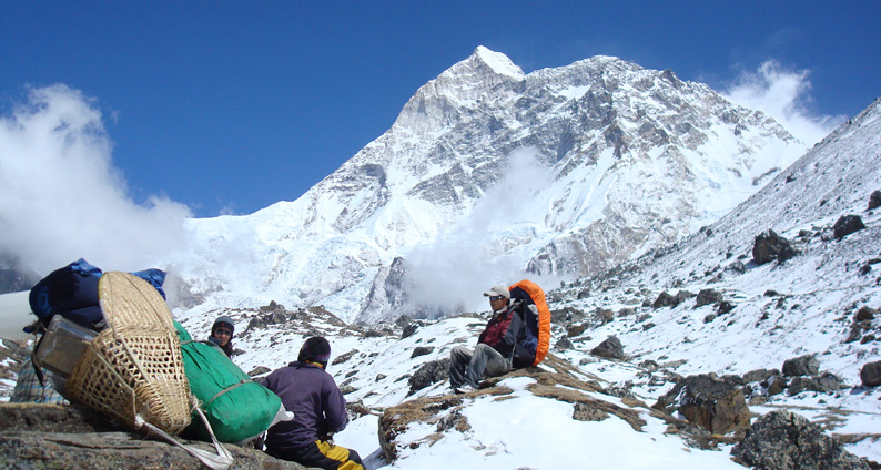 view from kanchenjunga base camp
