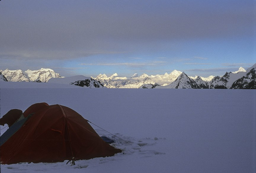 Camped at Panpatia upper ice-field, 2008