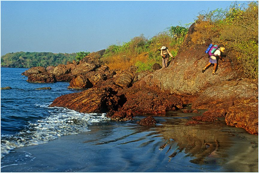 North of Vijaydurg, during coastal trek in Maharashtra