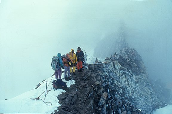 On Tashi Lapcha, Nepal, 1999, one of the toughest pass in the Himalaya