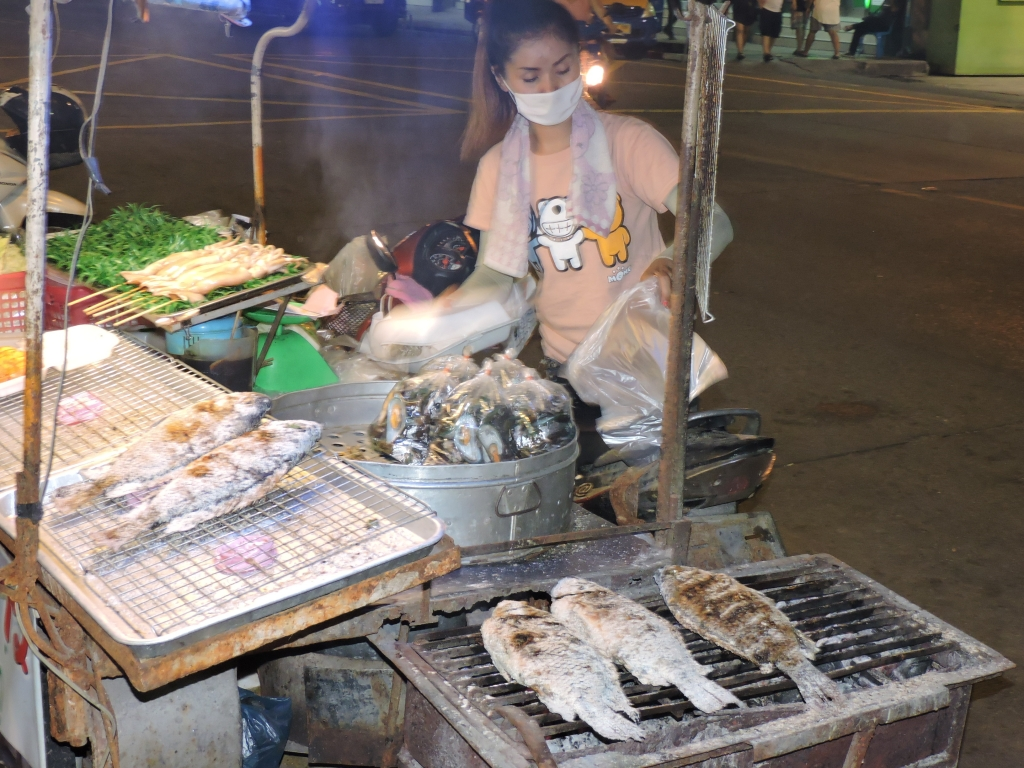 Smoked Fish at Pattya Food Street