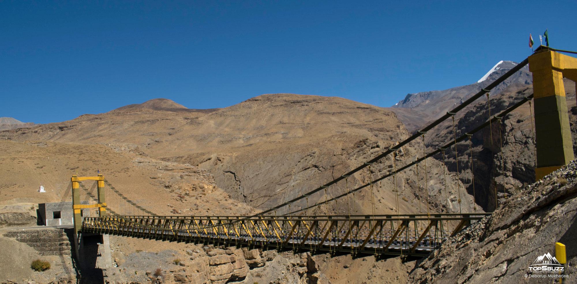 First view of Chicham Bridge