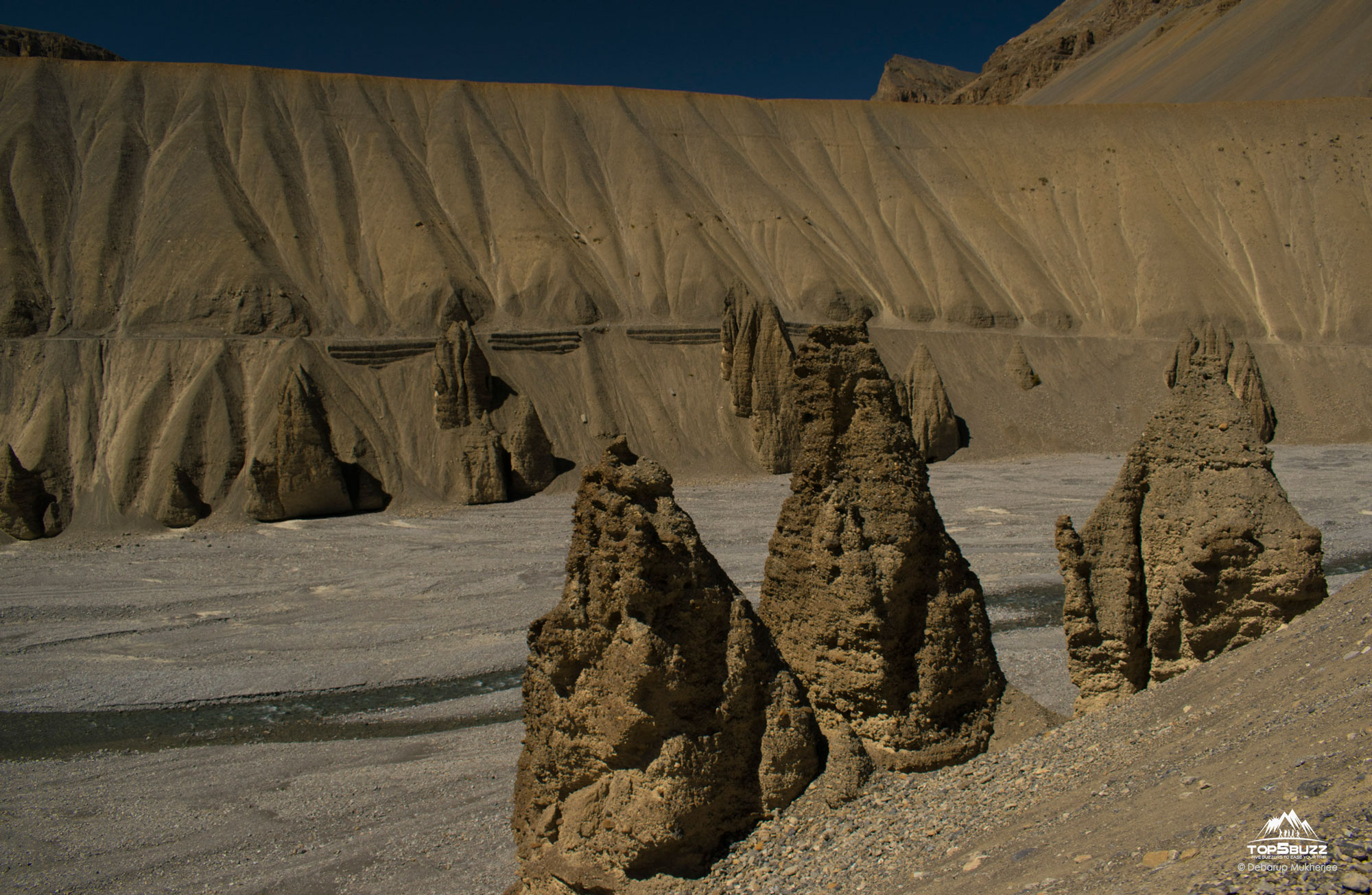 Rock Structures in Spiti Valley