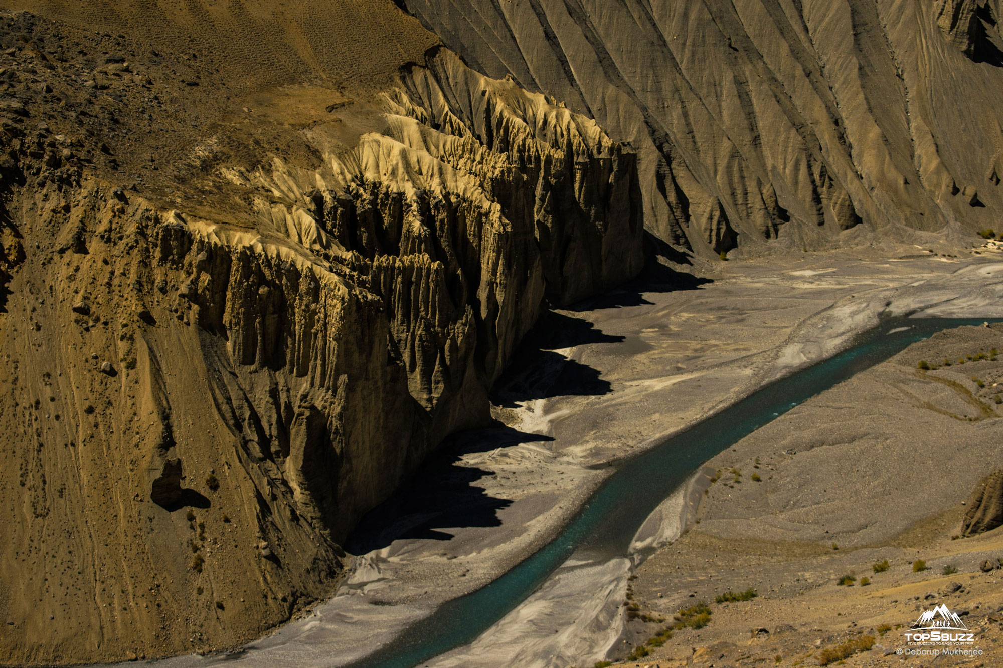 limestone mountains in Spiti Valley