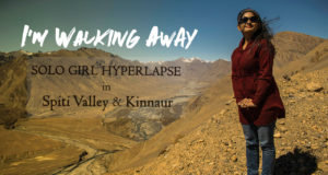 Solo Girl in Spiti Valley Hyperlapse