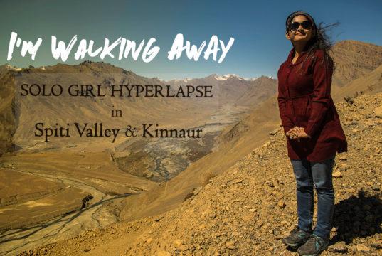 Solo Girl in Spiti Valley Hyperlapse