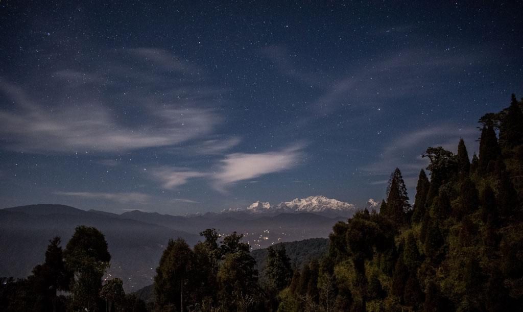 Night sky at Sandakphu Trek