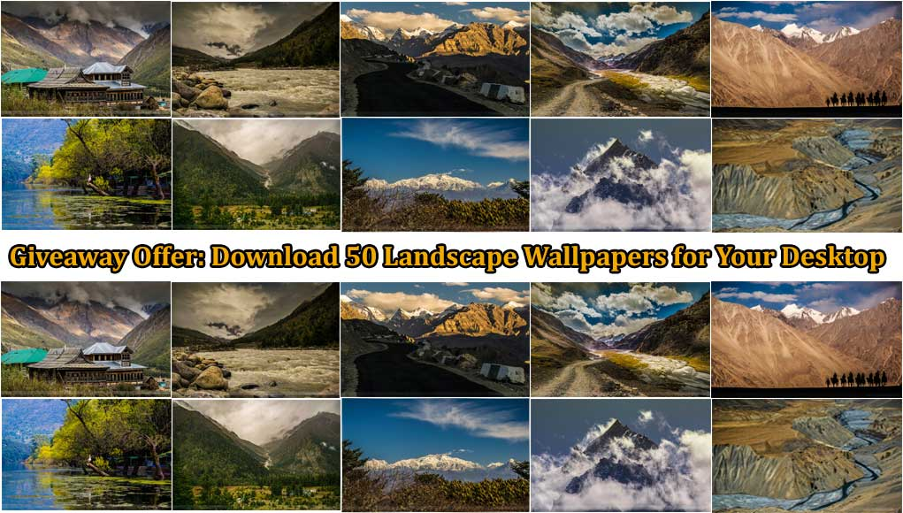 Giveaway Offer 50 Landscape Wallpapers Free Download For Your Desktop