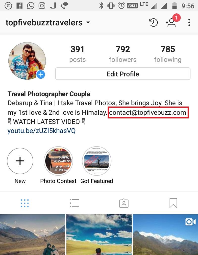 Top 5 Buzz Instagram