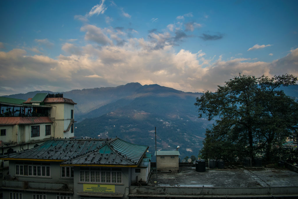 gangtok in the morning view