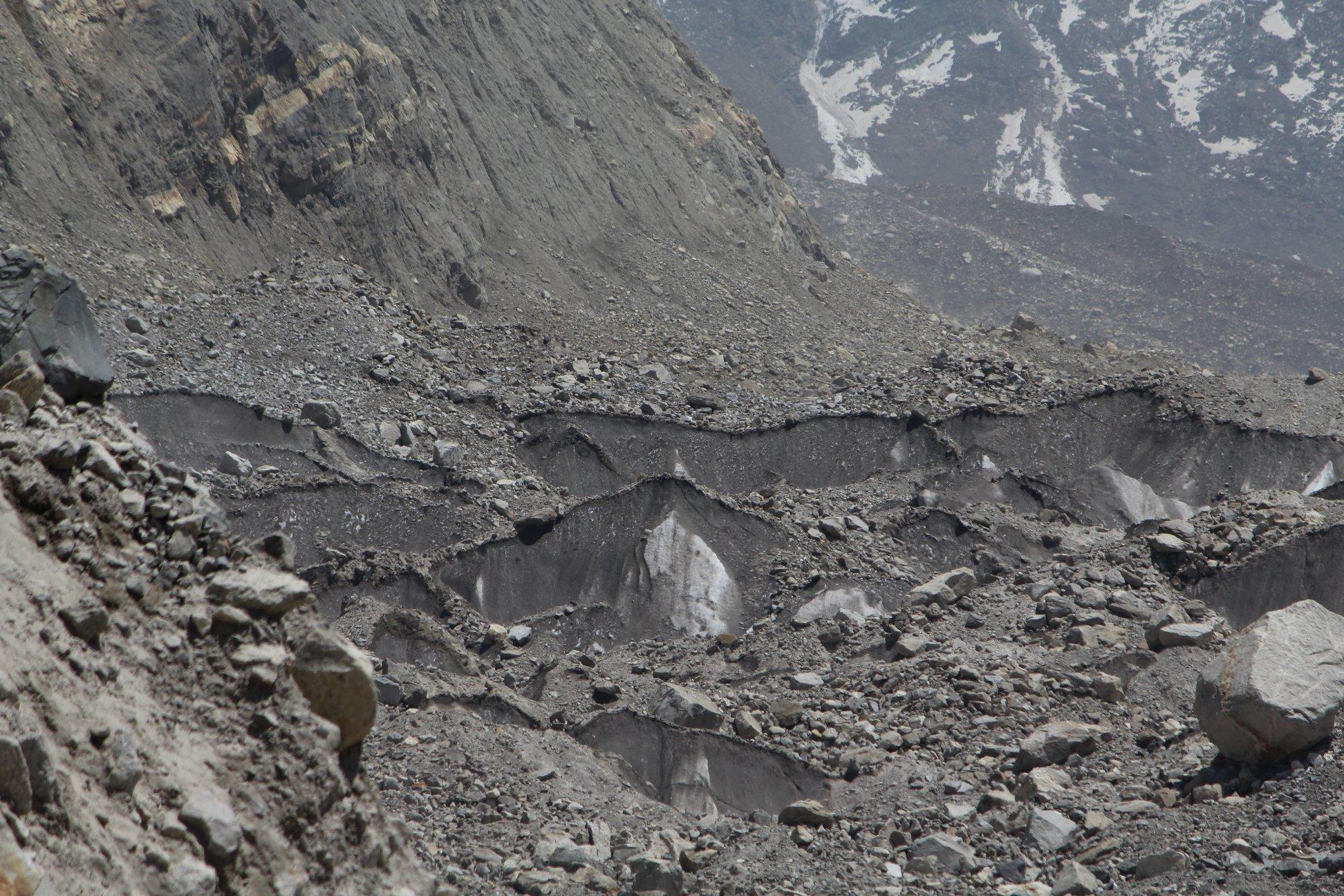 Landslides at Gangotri Glaciers