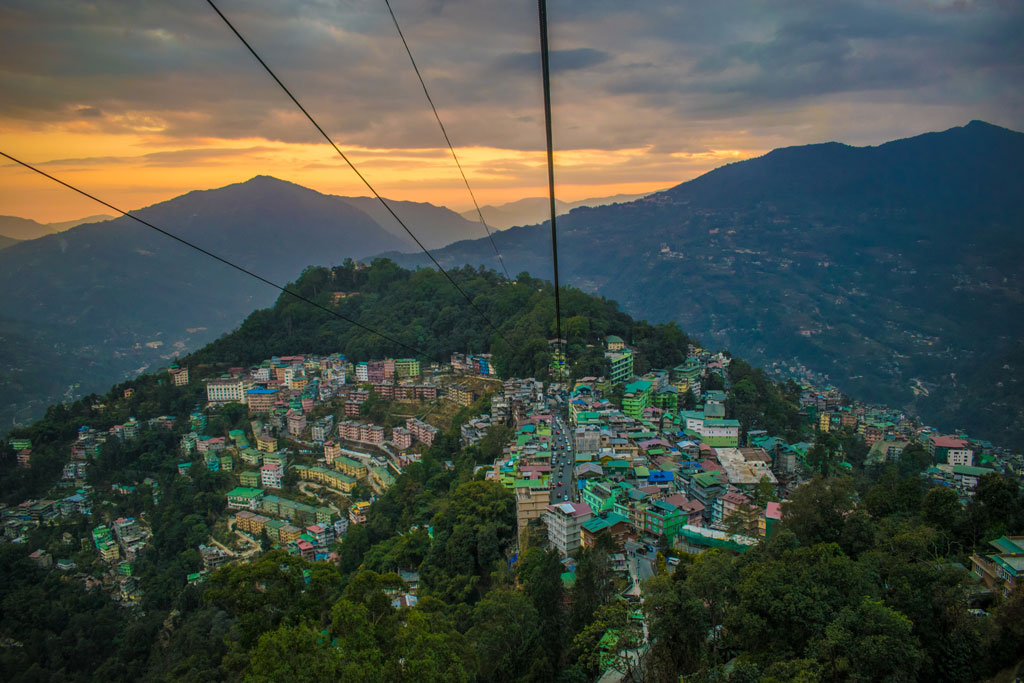 View from the Gangtok cable car